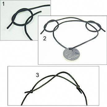 Black Satin Cord - Pulseras y brazaletes - Armband