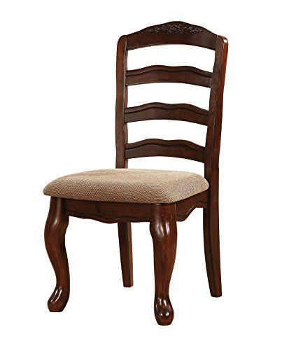 Townsville Traditional Dark Walnut Dining Chair Set Of 2