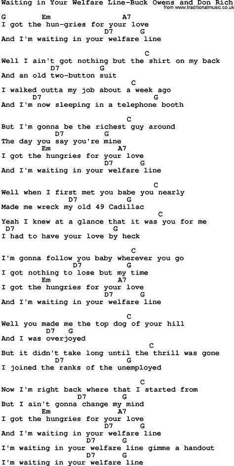 Buck Owens Song Lyrics Skiffle Song Lyrics For Louisiana Man Buck
