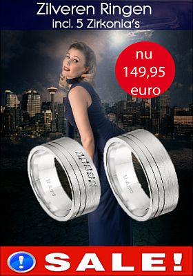 Hier vindt u alle acties op gebied van trouwringen. Goedkope trouwringen vindt u bij trouwringenvoordeel.nl