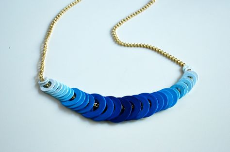 DIY ombre washer necklace