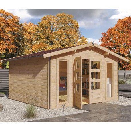 Abri De Jardin 12m Plus En Bois 40mm Brut Gardy Shelter Abri De Jardin Toiture En Bois Jardins En Bois