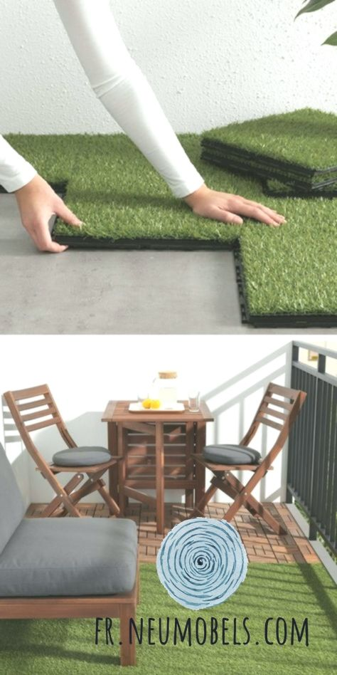 Poser Du Gazon Artificiel Sur Un Petit Balcon Et Le Combiner Avec Des Dalles En Artificiel Avec Balcon Combiner Dalles Areas Externas Externos Casas
