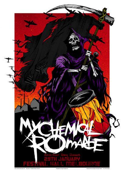Poster My Chemical Romance Music Band Room Art Wall Cloth Print 208