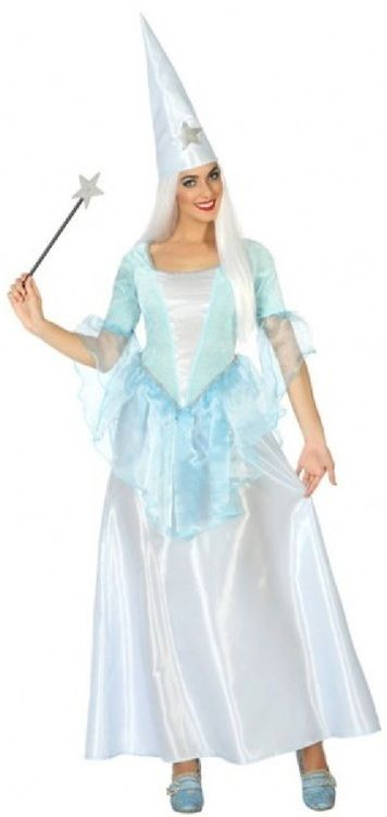 Blue with Dress Hat /& Scarf - Victorian Nanny Costume Size: La.. COST-W NEW