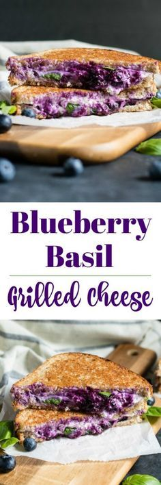 Blueberry Basil Grilled Cheese. Take your favorite sandwich up a notch with this summer inspired version. Fresh berries, basil from the garden, and goat cheese will have you drooling! #blueberry #grilledcheese #basil #recipe #lunch #simplerecipe #berryseason #summerrecipes