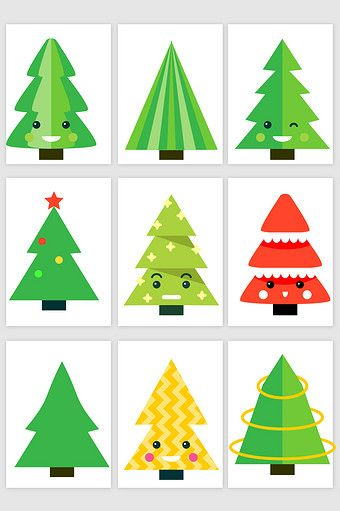 Colorful Cartoon Christmas Tree Vector Png Images Ai Free Download Pikbest Cartoon Christmas Tree Christmas Tree Tree Vector Png
