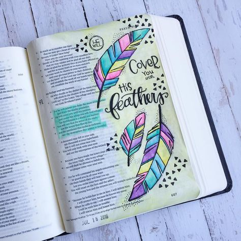 Bible Journaling by @_mimi_rn | Psalm 91:3-6