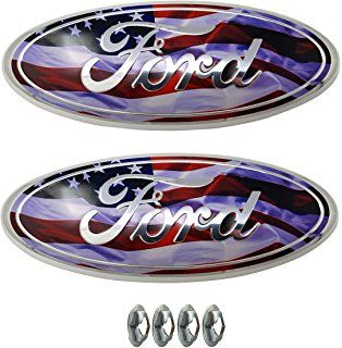 Amazon Com Muzzys Set Of Two Ford F150 American Flag Ford
