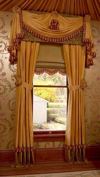 Drapery Panels Shade Valance Swag Jabots Traditional Window