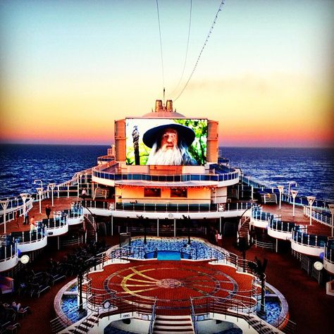 Movies Under the Stars... with a sunset #PrincessCruises #RoyalPrincess -- photo by Instagram user rosso76