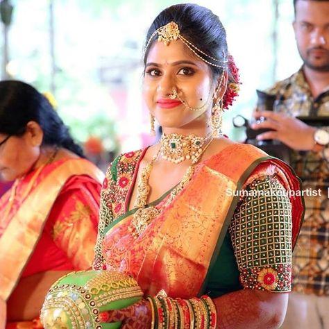 Makeup by @suma_makeuparitist Mail your wedding images to bridalinspiration.insta@gmail.com to get featured 💕 . . . . #bridesofindia #bridesofinsta #bridesofinstagram #bridalmakeup #bridalinspiration #bridalwear #bridalmakeupartist #bridaljewellery #bridalsaree #sareeblouse #weddingsaree #weddingjewellery #southindianbrides #northindianbrides#blouse #designerblouse #saree #sareelove #loveforsaree #blousebackdesign #sareeblouseideas #uniqueblouse #bridesessentials #southindianwedding #bridesofin