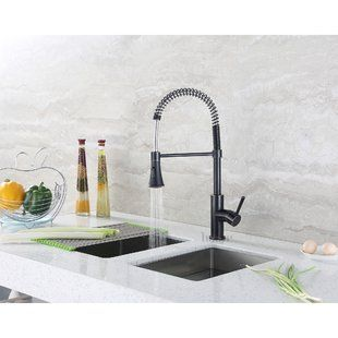 Pull Down Kitchen Faucets You Ll Love Wayfair Kitchen Faucet Single Handle Kitchen Faucet Kitchen Sink Faucets