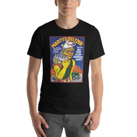 Marty's Seltzer T-Shirt - Black / 4XL