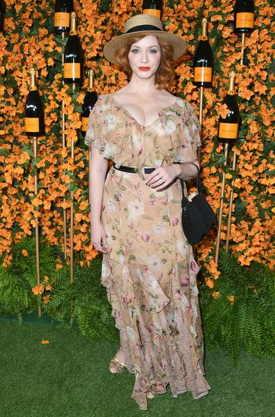 Christina Hendricks attends the 9th Annual Veuve Clicquot Polo Classic Los Angeles at Will Rogers State Historic Park.