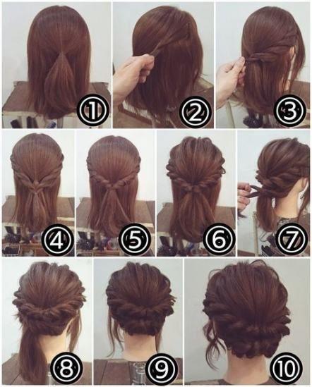 21 Trendy Wedding Hairstyles Short Hair Updo Diy Hairstyles Easy Hairstyles Hair Styles
