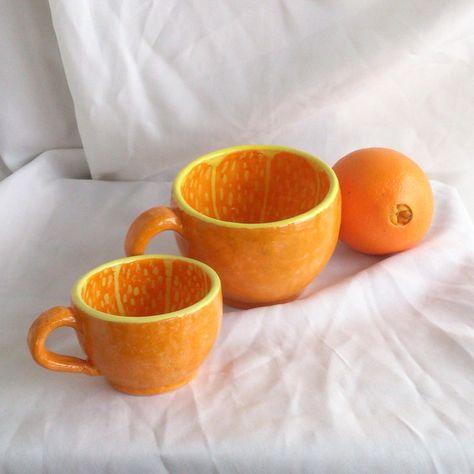 Pottery Bowls, Ceramic Bowls, Ceramic Pottery, Ceramic Art, Orange Bowl, Grand Bol, Clay Crafts, Ceramics, Crafty