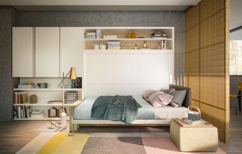 Armadio Letto A Scomparsa Ikea.Parete Attrezzata Con Letto A Scomparsa Circe Sofa By Clei Design