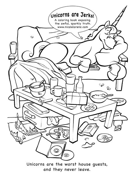 14 Best Coloring Book Unicorns Are Jerks Images Books And Stress