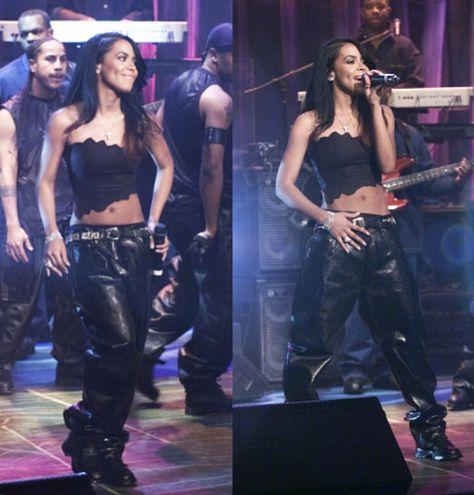 """aaliyahdanahaughtonn: """"Aaliyah performs on Jay Leno 2000 """""""