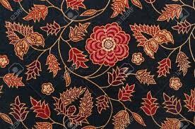 Batik flower indigo dance shorts