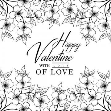 Hand Drawn Black And White Valentine Floral Background Valentine Black Floral Design Png And Vector With Transparent Background For Free Download Floral Background Black Floral Wallpaper White Pattern Background