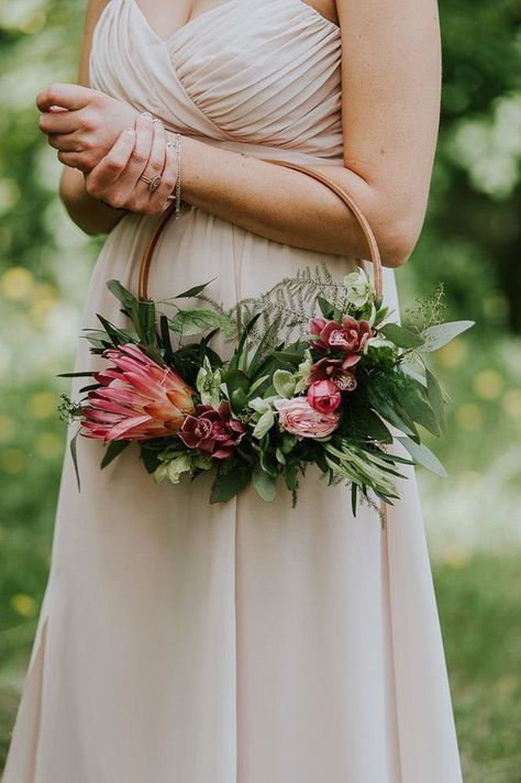 23 Best Hoop Bouquets Images Tropical Wedding Bouquets Flower