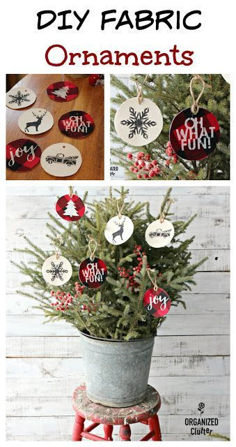 Diy Fabric Ornaments With Stencils From Joann Fabrics Fabric Ornaments Christmas Craft Projects Diy Holiday Decor