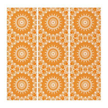 Orange Mandala Fun Kaleidoscope Design Triptych Zazzle Com Triptych Triptych Wall Art Mandala