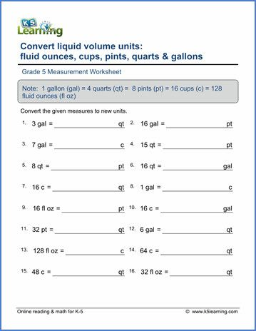 Grade 5 Measurement Worksheet On Measurement Worksheets Volume Worksheets Math Measurement