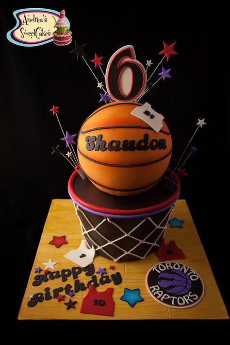 Toronto Raptors Basketball cake | by Andrea's SweetCakes                                                                                                                                                                                 Más