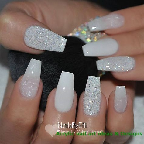 20 Great Ideas How To Make Acrylic Nails By Yourself 1 Graduation Nails White Acrylic Nails Wedding Nails Design