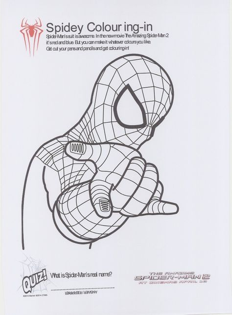 The Amazing Spider Man 2 Printable Spiderman Coloring Avengers Coloring Pages Superhero Coloring