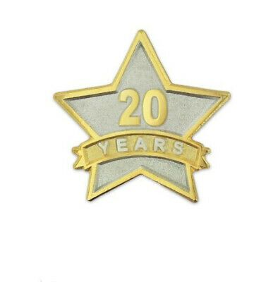 Ebay Ad Lot Of 6 New Pinmart 20 Year Service Award Star Corporate Volunteer Lapel Pins Service Awards Cool Cartoons Lapel Pins