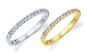 25 Cttw Genuine Diamond Wedding Ring In 10k White Or Yellow Gold