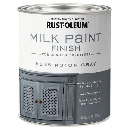 Rust Oleum 331053 Milk Paint Finish Kensington Gray Qt Image 1 Of 1 Milk Paint Milk Paint Colors Paint Finishes