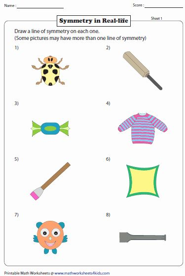 Worksheets Lines Of Symmetry Letters And Numbers 2