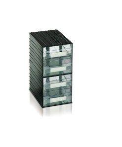 Cassetti In Plastica Componibili.Cassettiera In Plastica Componibile 4 Cassetti Trasparenti Mm