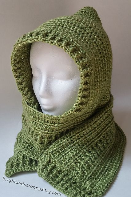 Serenity Hooded Scarf Pattern By Tina Lynn Creations Hooded Scarf