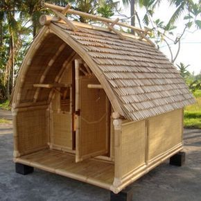Cabane En Bambou Petite Cocoon Architecture En Bambou Artisanats En Bambou Et Construction En Bambou