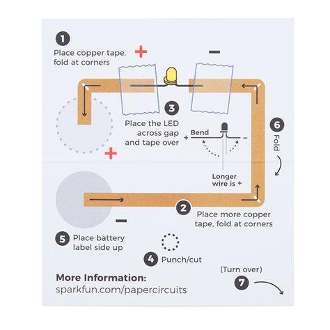 Sparkfun Paper Circuits Classroom Pack Paper Circuits Circuit Copper Tape