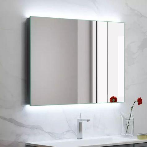 Megabad Living Spiegel 120 X 60 Cm Mit Led Hintergrundbeleuchtung