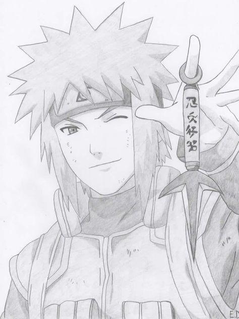 Gambar Pensil Hitam Putih : gambar, pensil, hitam, putih, Minato, Namikaze, Naruto, Shippuden,, Minato,, Gambar, Anime