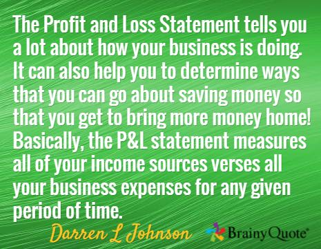 Income statement Iu0027m Pro 7 Let me help you get where you want to - business profit loss statement