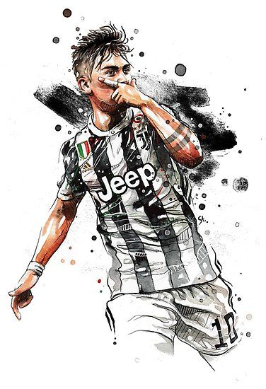 Paulo Dybala Art Water Color Design Hd Also Buy This Artwork On Wall Prints Apparel Stickers And More Gambar Sepak Bola Pemain Sepak Bola Sepak Bola
