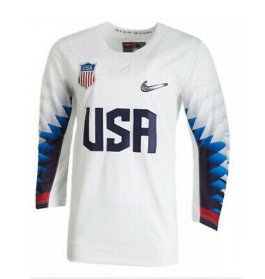 Ad Ebay Link Nike Team Usa 2018 White Olympic Hockey Jersey Men S Size Xl P34235 10a New In 2020 Olympic Hockey Team Usa Hockey Jersey