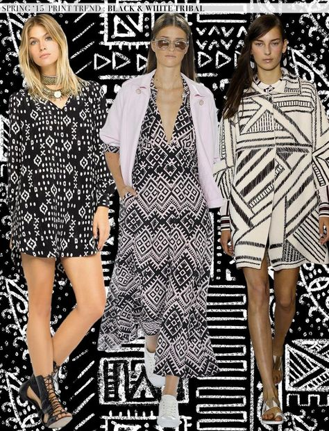 Spring 2015 Runway Trends: Black and White Tribal via Aaryn West