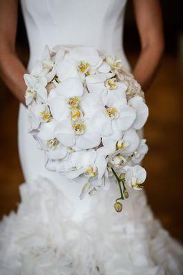Modern Elegant Ballroom Wedding With White Flowers In Houston