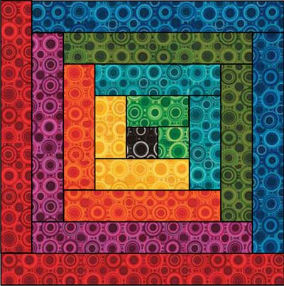 rainbow log cabin - page has link to pdf pattern | quilts ... : log cabin quilt pattern instructions - Adamdwight.com