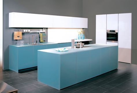 Hellblaue Küche von Wellmann by ALNO \/ Light blue kitchen by - alno küchen kiel